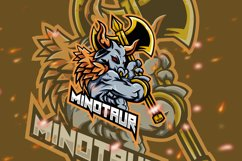 Minotaur Squad Esport Gaming Logo Product Image 1