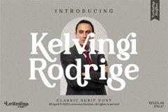 Kelvingi Rodrige - Luxury Serif Font Product Image 1