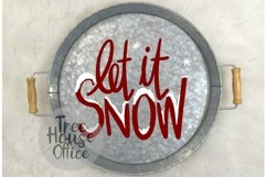 Let It Snow Christmas Song Quote Saying Holiday SVG DXF PNG Product Image 3
