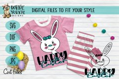 Hand-Drawn - BUNDLE - Boy, Girl Bunny, Happy Easter - SVG Cu Product Image 3