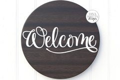 Welcome SVG   Farmhouse Sign   DXF and more! Product Image 1