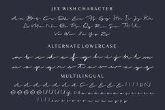 Web Font - Jee Wish - Handlettered Brush Font Product Image 5