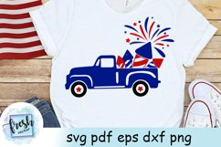 4th of July Truck SVG 4th of July Svg Truck Fireworks Svg Product Image 3