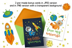 LITTLE SPACEMAN Vector Illustration Seamless Pattern Set Product Image 6