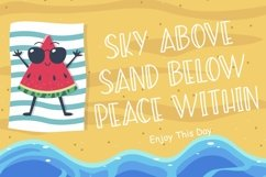 Summer Beach Sunny Display Typeface Product Image 2