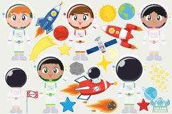 Space Astronauts Clipart, Instant Download Vector Art Product Image 2