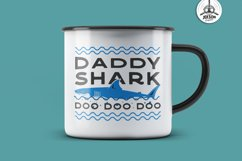 Retro Daddy Shark Print / Fathers Day T-Shirt, Family SVG Product Image 3