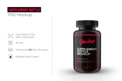 Supplement Bottle Mockup, Glossy Plastic Material Product Image 2