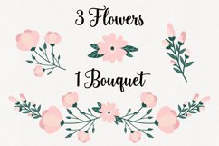 Floral Pink Peony Wreaths Illustration Bundle Product Image 3
