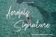 Web Font Aerofoils Signature - Elegant Signature Font Product Image 1