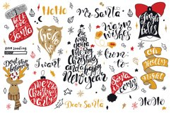 Merry Christmas quotes Lettering set Product Image 3