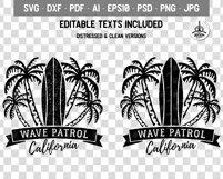 Surf Patrol Adventure Badge, Vintage Summer Logo SVG File Product Image 3