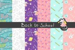 Back to School Digital Paper, School girl paper Product Image 1
