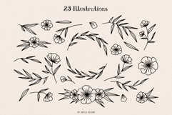 Ciera watercolor svg font family & floral logos clipart Product Image 2
