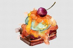 Dessert Appetizing Watercolor png Product Image 2