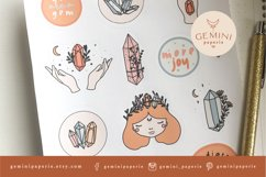 Gemstone Printable Stickers   Cricut Design Sticker Sheet Product Image 4