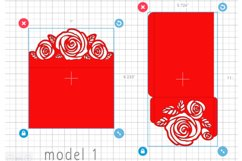 Rose wedding invitation template, Svg files for cricut Product Image 4