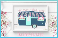 Welcome To My Glamper Happy Glamping Camping SVG Product Image 1