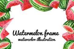 Watercolor watermelons, clipart for stickers and paper Product Image 5