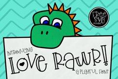 Love Rawr a playful font Product Image 1