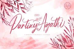 Partiny Agathi - Handwritten Font Product Image 1