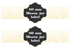 Digital Mason Jar label templates Product Image 2