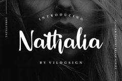 Nathalia // Modern Handwritten Script Font Product Image 1