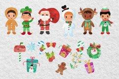 Christmas Clipart Boys Product Image 3