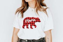 Mama bear svg Mama bear christmas Buffalo plaid christmas Product Image 3