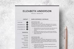 Resume Template | CV Cover Letter - Elizabeth Anderson Product Image 3