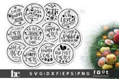 Easter rounds SVG  Easter Ornaments SVG   Easter bundle SVG Product Image 2