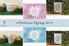 Christmas Mockup Bundle, Mug, Ornament, Flag, Xmas Mock-Ups Product Image 1