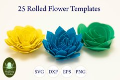25 Rolled flowers svg, cutfiles, paper craft templates Product Image 8