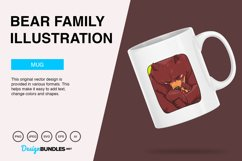 Bear Family Vector Illustration Product Image 2