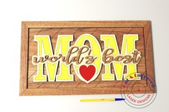 Mother's day wall frame, nursery decor. Glowforge ready. Product Image 4