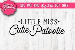 Little Miss Cutie Patootie - SVG DXF PNG Digital Cut file Product Image 1
