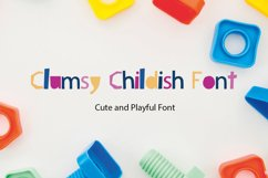 Clumsy Childish WEB Font Product Image 1
