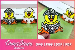 CLUCKY THE CHICK SVG 2 MANDALA ZENTANGLE EASTER DESIGNS Product Image 2