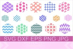 Keychain Hexagon Pattern SVG PNG DXF Product Image 1