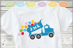 Easter Truck with eggs - Easter Truck svg - Dump truck svg Product Image 1
