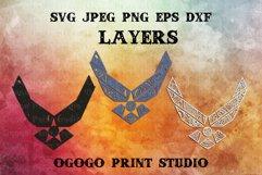 US Air Force Svg - 3D Layered Mandala SVG cut file 3 layers Product Image 2