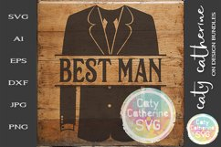 Wedding Party Male Roles Tuxedo Best Man SVG Cut File Product Image 1