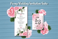 Peony Floral Wedding Invitation Suite Product Image 3
