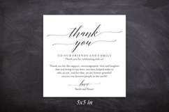 Wedding Thank You Card, Thank You Printable, Wedding Table Product Image 3