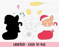 Christmas Corgi SVG cut file Funny Dog Christmas Stocking Product Image 2