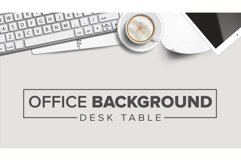 Business Workplace Background Vector. Laptop, Computer Product Image 1