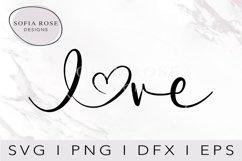 Love SVG-Valentine SVG-Love with Heart SVG- Heart SVG-Love Product Image 1