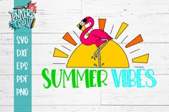 Summer Vibes Flamingo SVG Product Image 3