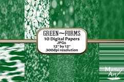 Green Forms - 10 Digital Papers/Backgrounds Product Image 1
