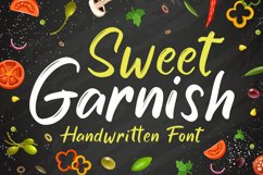 Cute Brush Font - Sweet Garnish Product Image 1